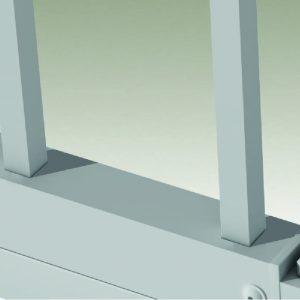 Montanti verticali in acciaio a sezione quadra 14x14